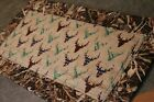 Brown Beige Green Deer Lodge 25 X 12 1/2 Handmade Quilted Table Runner