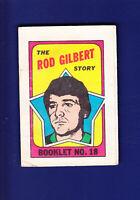 The Rod Gilbert Story Booklet HOF 1971-72 O-PEE-CHEE OPC Hockey #18 (VGEX)