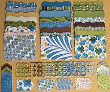 48 Sizzix Stampin Up Top Note, Lattice & tags- DCWV White Ginger 1/2  with foil