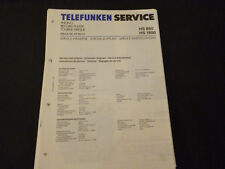 ORIGINALI service manual TELEFUNKEN HS 850 CD HS 1800