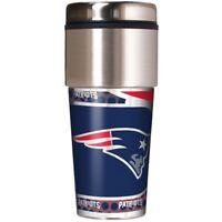 NFL New England Patriots 360 Wrap Travel Tumbler Fan Coffee Mug Cup