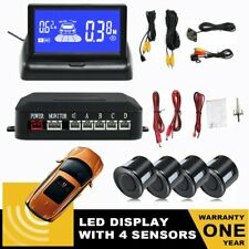 Lcd Monnitor Car Reverse Backup Alarm System with 4 Parking Sensors Detector Dc