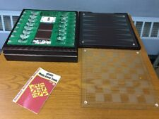 Harvard Portable Multi Game Table Chess Checkers Cribbage Backgammon Dominoes
