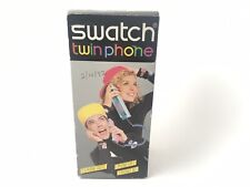 Swatch Twin Phone Telephone See Through Pink Jelly 1980's Vintage Collectable