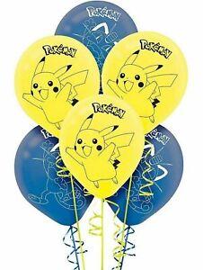 """(18ct) Pokemon Pikachu & Meow Mix Birthday 12"""" Latex Balloons Party Supplies"""