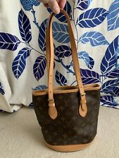 "Louis Vuitton Petite Monogram Bucket Tote 10""x9""x6"" AUTHENTIC"