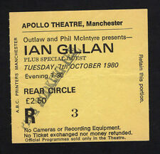 1980 Ian Gillan from Deep Purple Concert Ticket Stub Manchester UK Glory Road
