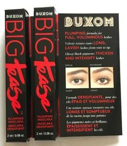 2x BUXOM Big Tease Plumping Mascara 2ml Each Blackest Black BNIB