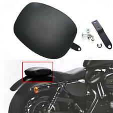 New For Harley Davidson Motorcycle Passenger Seat Pad Black Rear Leather Pillion