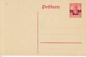 Deutsche Post in der Türkei   Ganzsache  P 16   **