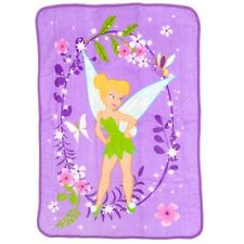 Disney TinkerBell Tink Garden Treasures Plush Blanket 80cm x 110cm. Best Price