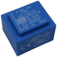 Block VB1,5/1/18 Trafo Printtrafo 1,5VA 18V Netztrafo Transformator 857665
