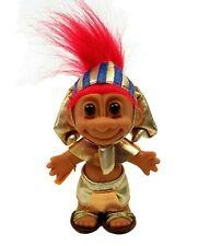 "RARE 5"" Russ Troll Doll Egyptian King Tut Pharaoh w Sticker LV Luxor Promo"