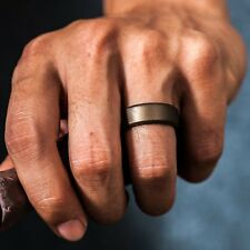 Designed Silicone Wedding Rings Men 7Pack Affordable Rubber Band Beveled SacoBan