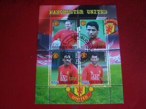 2007 EX-MANCHESTER UNITED PLAYERS - UNMOUNTED USED SOUVENIR SHEET