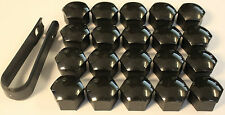 AUDI A3 A4 A5 A6 A7 A8 Q3 Q5 GLOSSY BLACK WHEEL NUT BOLT COVERS CAPS 17mm x20 5!