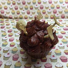 "Halloween Themed Skeleton Cupcake Chocolate Candle Soy Wax ""Homemade"""