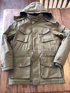 Barbour Jacket Men Size Medium Coat Green EUC