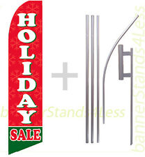 Feather Flutter Swooper Tall Banner Sign Flag 15' Kit - Holiday Sale b