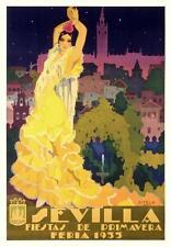 """Sevilla - Fiestes de Primavera"" giclee open ed, Vintage - Recreated 22x15.25"