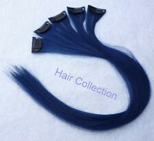 "18""Blue Human Hair Clip-On Extensions for Highlights (5pcs)"