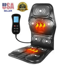 Portable Heating Back Massage Chair Electric Neck Pain Relief Vibrating Mattress