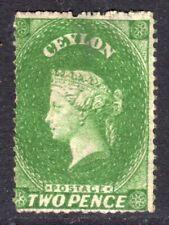 CEYLON 1861-64 QV 2d green wmk Star p14-15½ un., thin, SG 20 cat £275