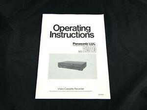Panasonic AG-2520 Owner's Manual