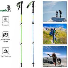 1PCS Trekking Walking Hiking Sticks Poles Adjustable Alpenstock anti-shock WF