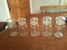 More details for 5x clear glass apothecary jars belgium bubble top free uk p&p