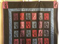 "Amish Style Quilt ""Loving Hands Make Warm Quilts"" 42"" x 36"""