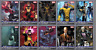Topps Marvel Collect Card Trader X-men Weekly Wave 1 2 Composition Set NO AWARD