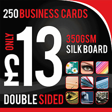 250 Business Cards 350gsm Premium Silk Artboard ~ Double Sided
