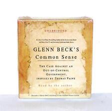 BOOK/AUDIOBOOK CD Glenn Beck Politics History GLENN BECK'S COMMON SENSE