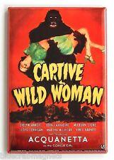 Captive Wild Woman FRIDGE MAGNET (2 x 3 inches) giant monkey gorilla