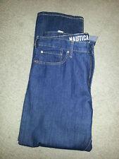 New Nautica Men's Jeans, 36X30, Dark Blue, Denim