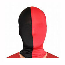 Morphsuits Red & Black Team MorphMask Costume Mask One Size Fits Most Adults
