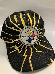 Vintage Pittsburgh Steelers Starter SnapBack Hat Collision Lightning CLEAN Wool
