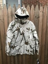 Onyx Artic Shield Men White Snow Camo Hunting Hooded Heavy Coat Face Mask L NWT