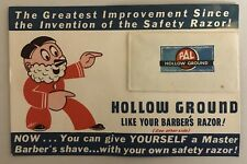 Pal Hollow Ground Double Edge Safety Razor Blade on Advertising Card