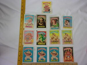 Garbage Pail Kids cards 2nd series lot of 13 cards stickers 1985 VINTAGE