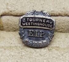 "Vintage Estate Sterling Silver Le Tourneau Westinghouse EIP Award Pin ~ 7/16"""