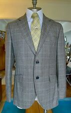 Hackett 100% Italian Wool Brown Prince of Wales Check Blazer 40R RRP £500