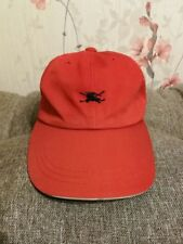 VERY RARE AUTHENTIC BURBERRY GOLF CAP RED HAT