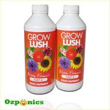 COCO BLOOM FORMULA GROWLUSH HYDROPONICS A&B 2 X 1 LITRE NUTRIENTS