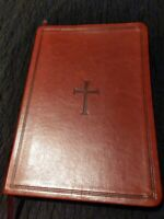 Vintage Holy Bible King James  Red Letter Leather Holman with index 1982 W/Case