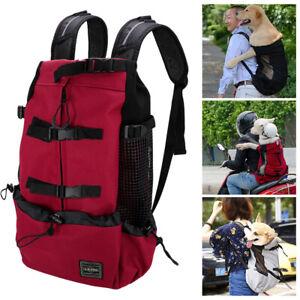 Pet Backpack Carrier Nylon & Mesh Dog Travel Bag for Biking Hiking Portable Bags
