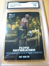 FLOYD MAYWEATHER 2017 TOPPS NOW DEFEATS MCGREGOR AUG. 26 # MMB1 GRADED 10 L@@@K