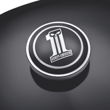 OEM GENUINE Harley-Davidson Dark Custom WILLIE G #1 SKULL Fuel Cap Medallion
