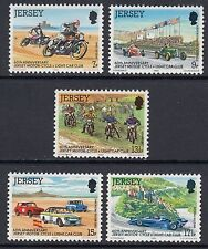 JERSEY MNH UMM STAMP SET 1980 SG 233-237 MOTOR-CYCLE & LIGHT CAR CLUB